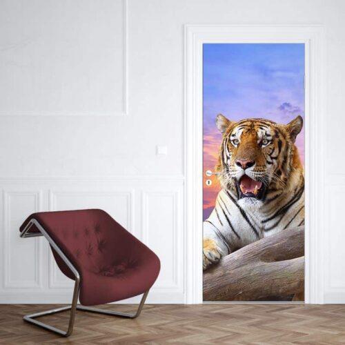 Deursticker Bengaalse tijger