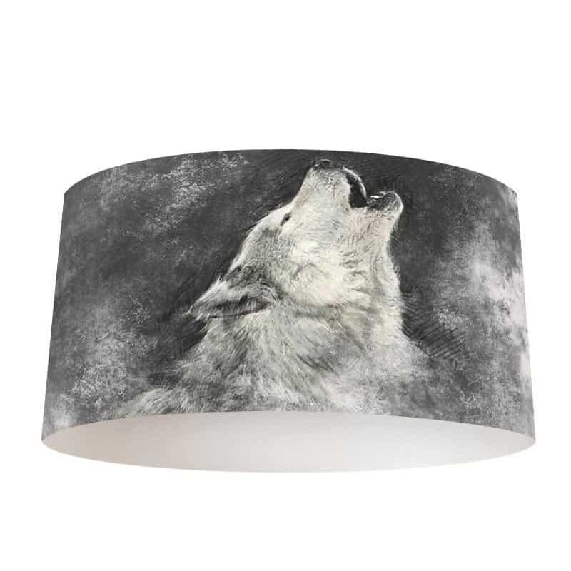 Lampenkap Geschetste wolf