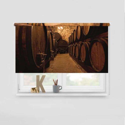 Rolgordijn Oude wijnkelder