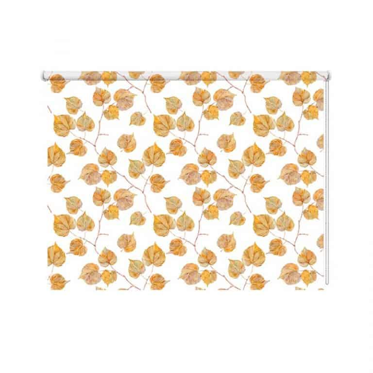 Rolgordijn Herfstbladeren patroon