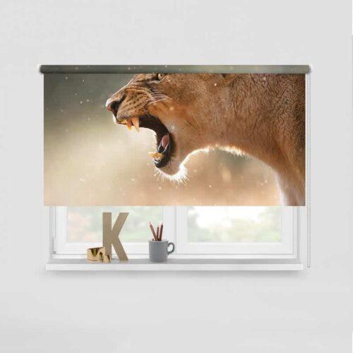 Rolgordijn Brullende leeuwin