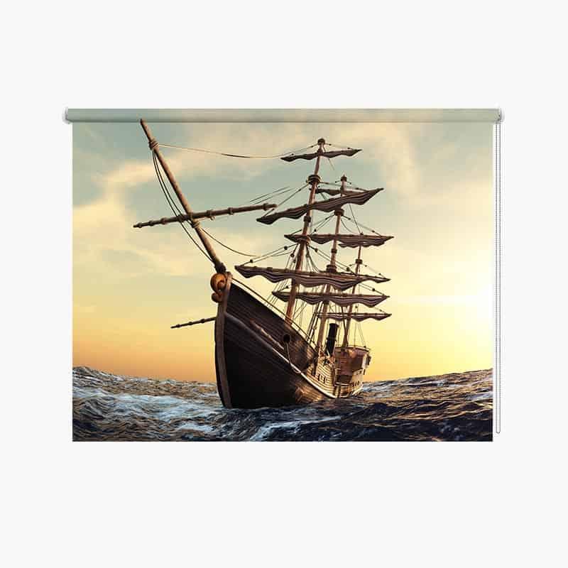 Rolgordijn Mysterieus piratenschip