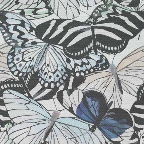 Tafelkleed vlinders in aquarel