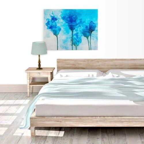 Canvas Artistieke bloemen