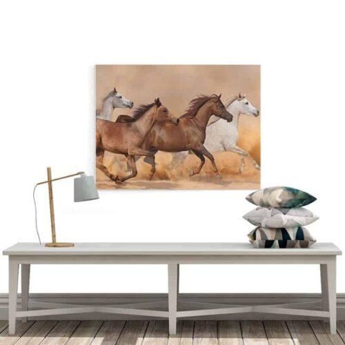 Canvas wilde paarden