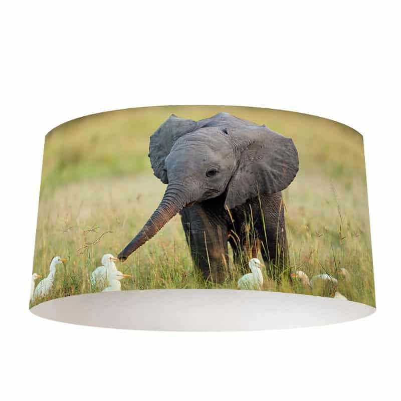 Lampenkap Speels olifantje