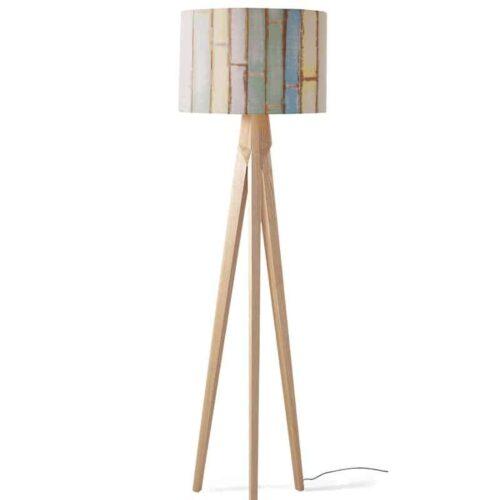lampenkap gekleurd hout 3