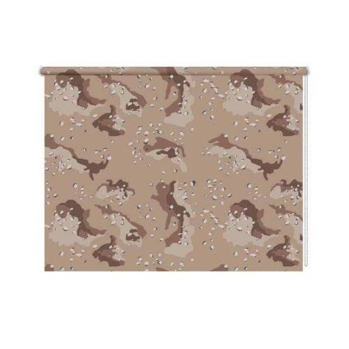 Rolgordijn Woestijn camouflage patroon