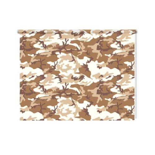 Rolgordijn-Urban-camouflage-patroon-bruin