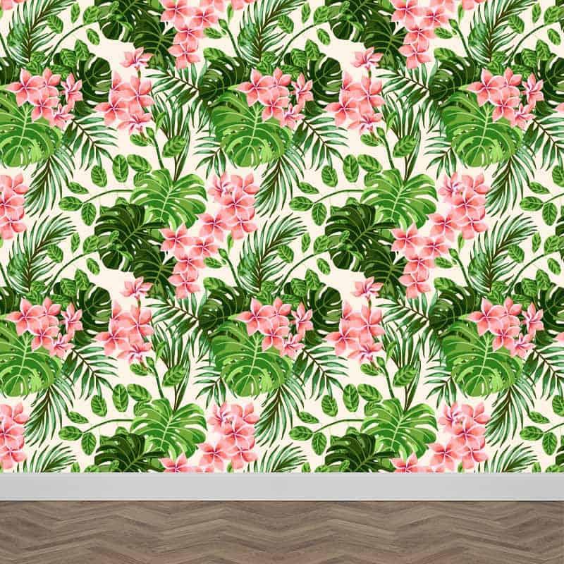 Fotobehang Tropisch patroon 1