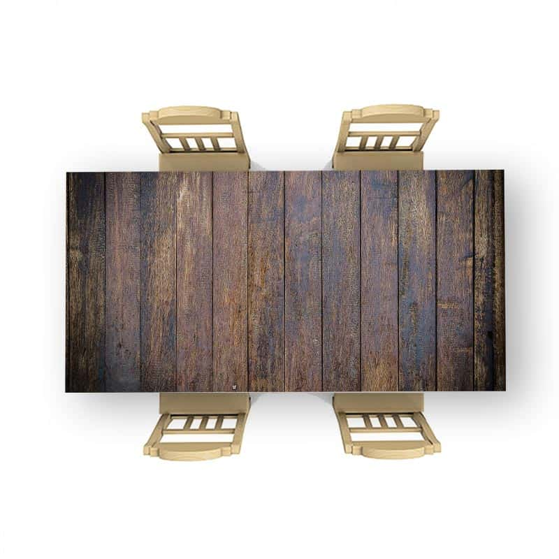 Tafelsticker Hout patroon antiek