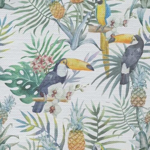 Tafelkleed tropische vogels patroon