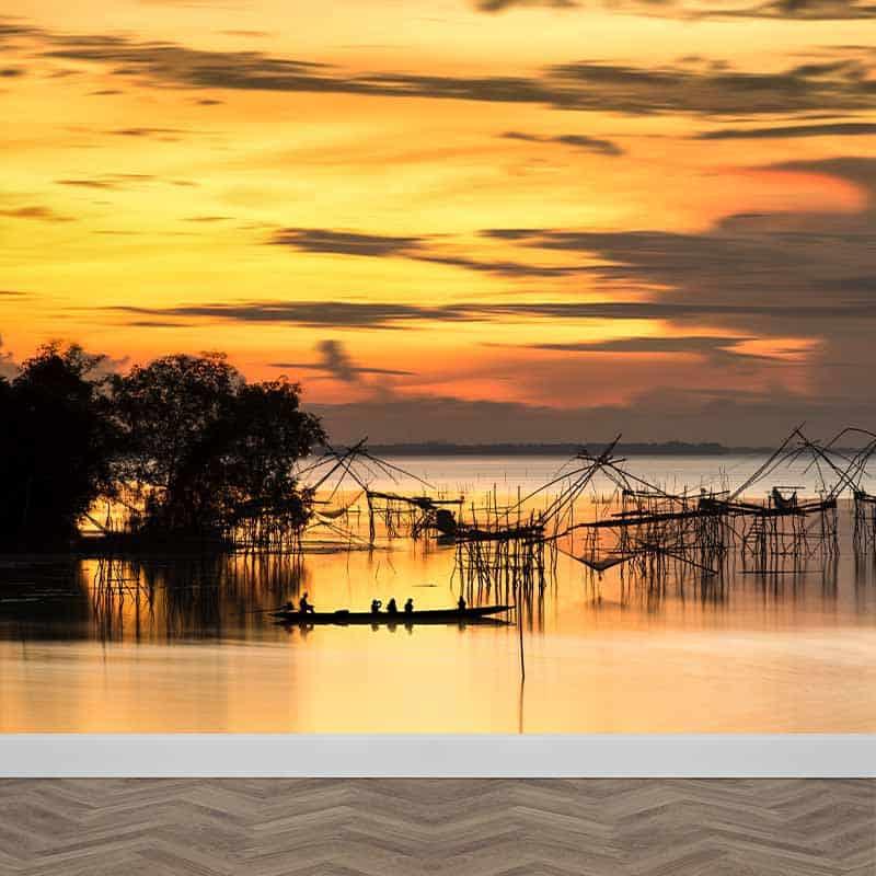 Fotobehang Afrikaans meer