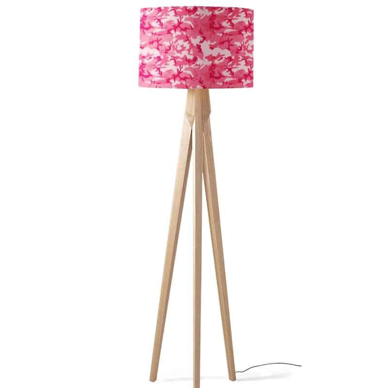 Lampenkap urban camouflage patroon roze
