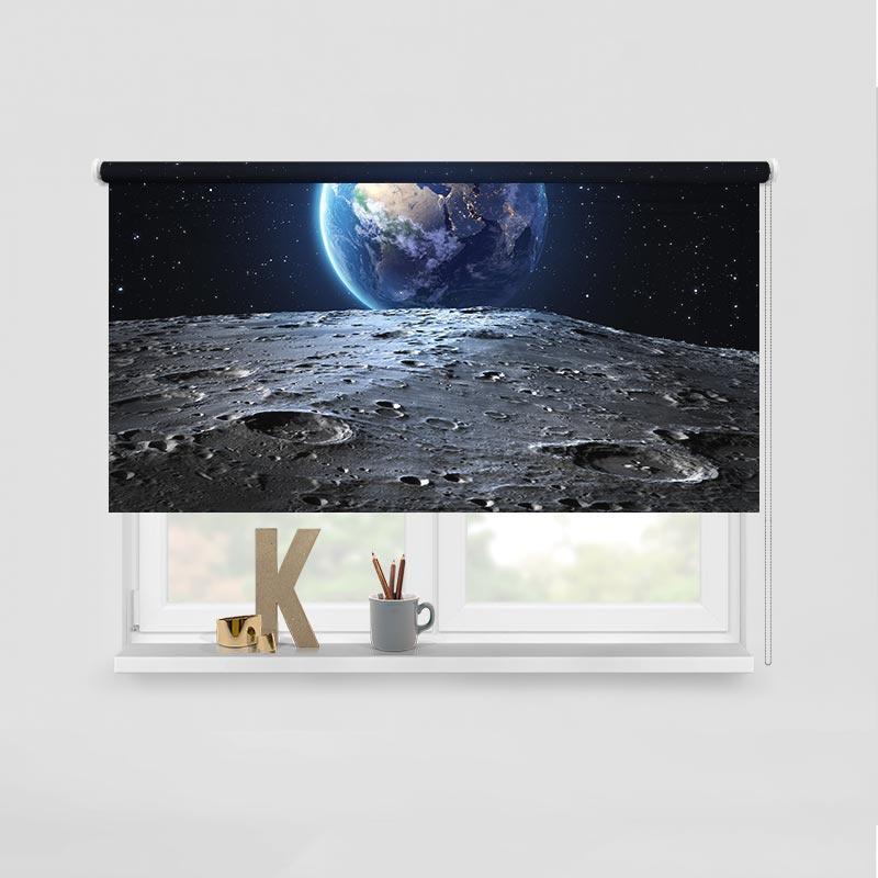 Rolgordijn maan versus aarde