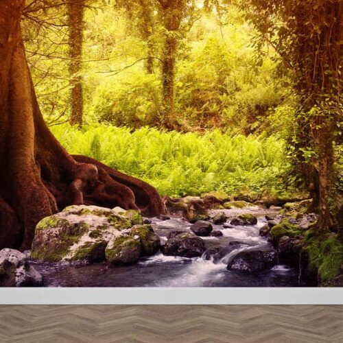 Fotobehang Beekje in het bos
