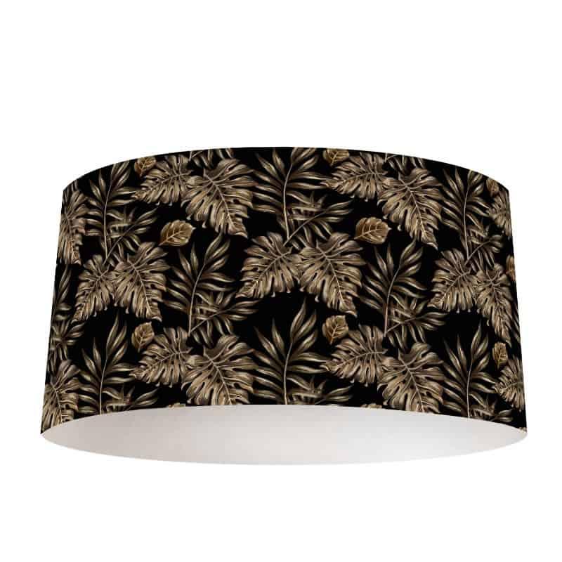 Lampenkap Gouden bladeren patroon