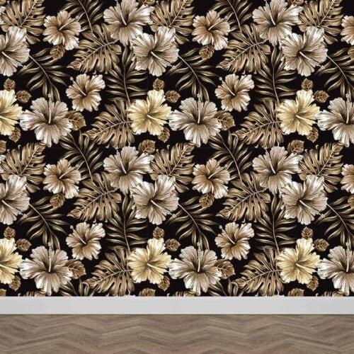 Fotobehang Tropisch vintage patroon