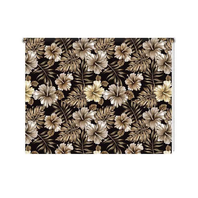 Rolgordijn Tropisch vintage patroon