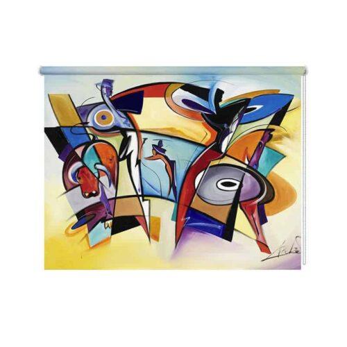 Rolgordijn Corrida abstract