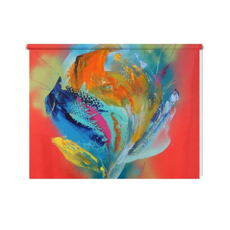 Rolgordijn Power flower I