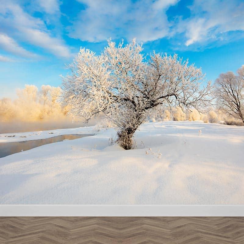 Fotobehang Sneeuw landschap 2