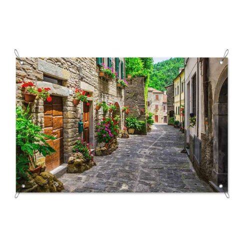Tuinposter Italiaans straatje