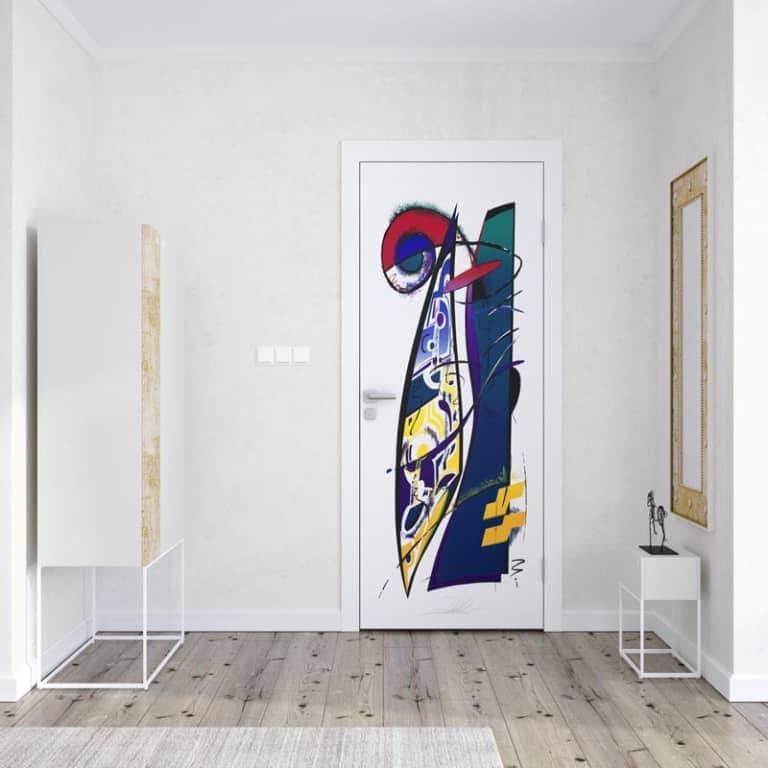 Deursticker Artistic shapes