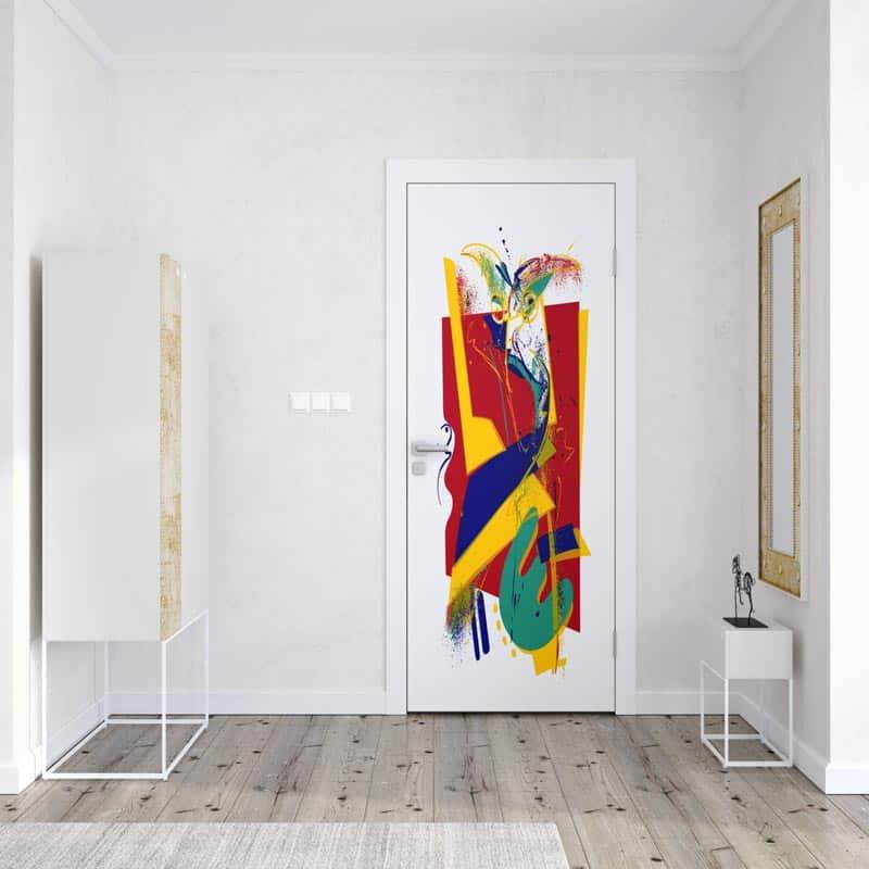 Deursticker Modern colours