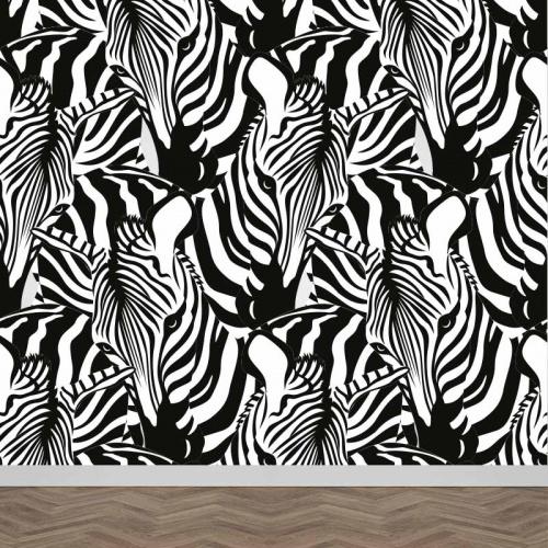 Fotobehang Zebra's