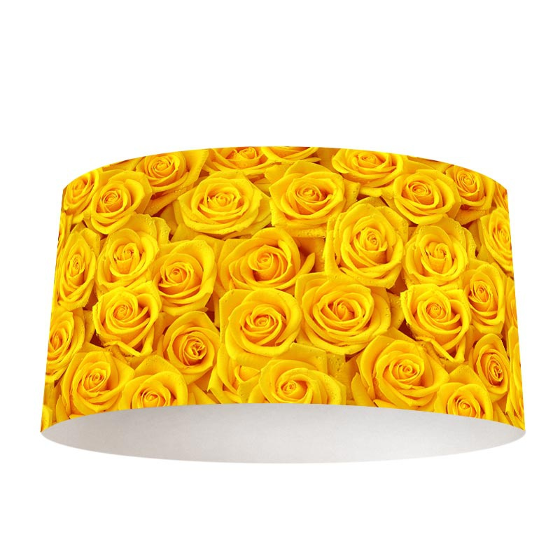 Lampenkap gele rozen
