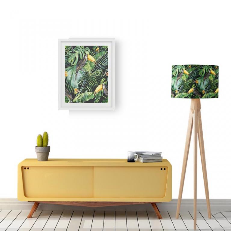 Lampenkap Botanische jungle patroon 2