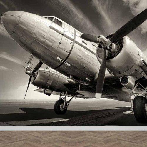 Fotobehang Oude propeller vliegtuig