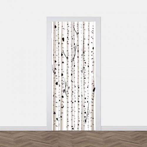 Deursticker Berkenbomen patroon
