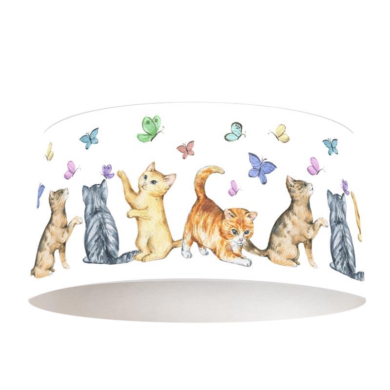 Lampenkap vlindertjes en kittens