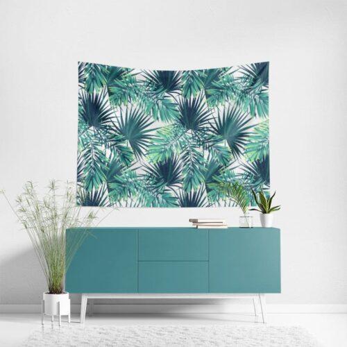 Wanddoek Tropische bladeren patroon 2