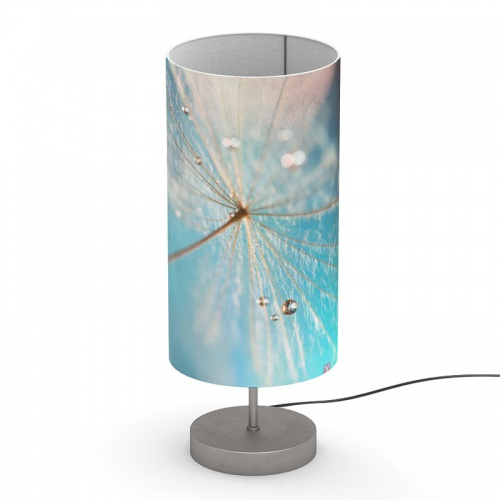 Koker lampenkap Dandelion met waterdruppels