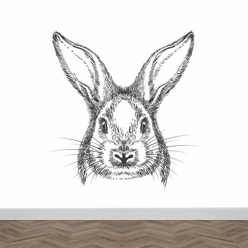 Fotobehang Getekend konijn