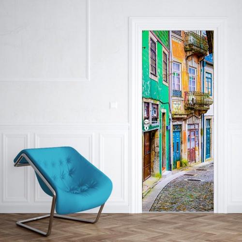 Deursticker Portugees straatje