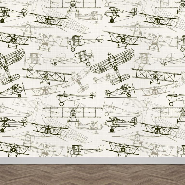 Fotobehang vintage vliegtuigen