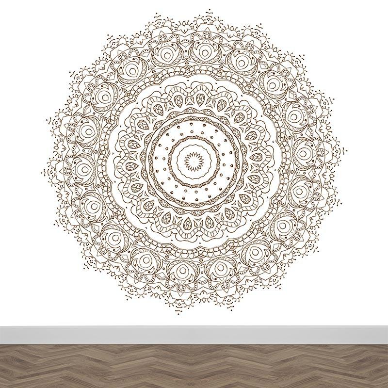 Fotobehang Mandala patroon 1