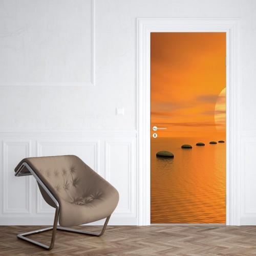 Deursticker Zen uitzicht