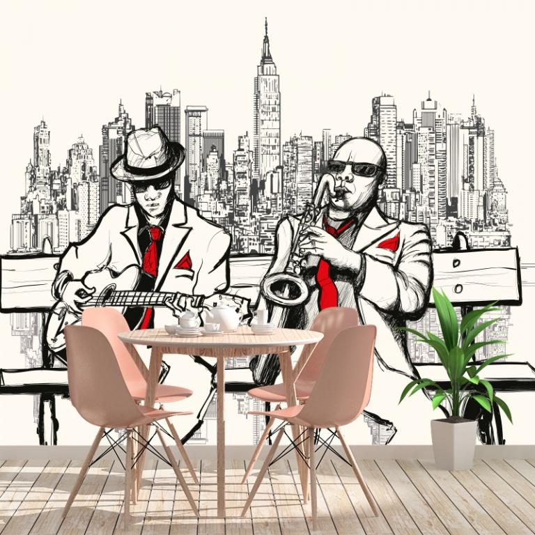Fotobehang New York muzikanten