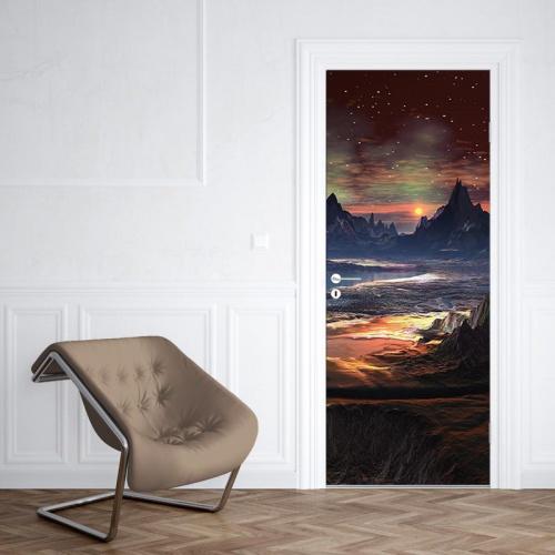 Deursticker Mysterieus fantasie landschap