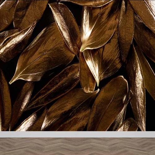 Fotobehang Gouden blaadjes