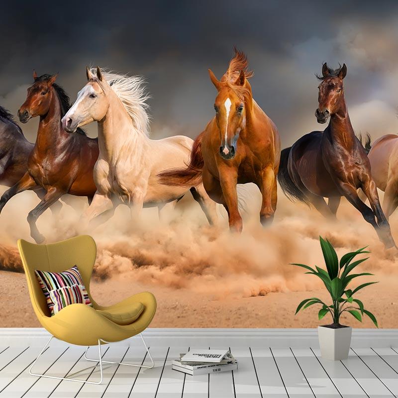 Fotobehang Galopperende paarden