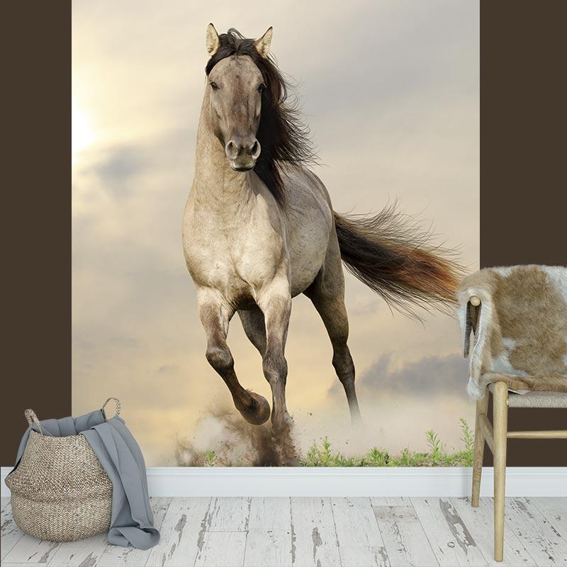 Fotobehang Rennend paard