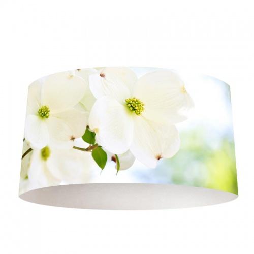 Lampenkap Serene witte bloemen