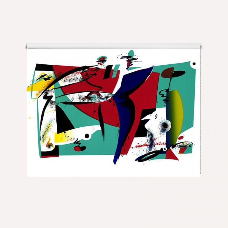 Rolgordijn Crazy colours