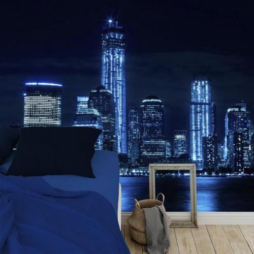 Fotobehang New York by night